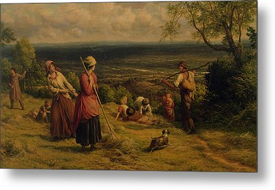The Haymakers Metal Print by James Thomas Linnell