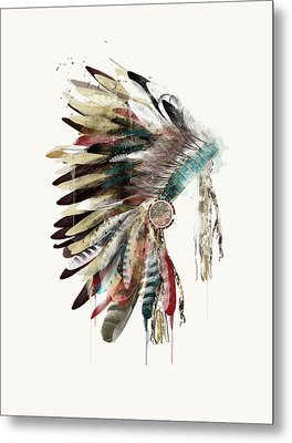 The Headdress Metal Print by Bri B