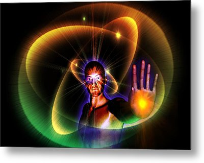 Metal Print featuring the digital art The Healer by Shadowlea Is