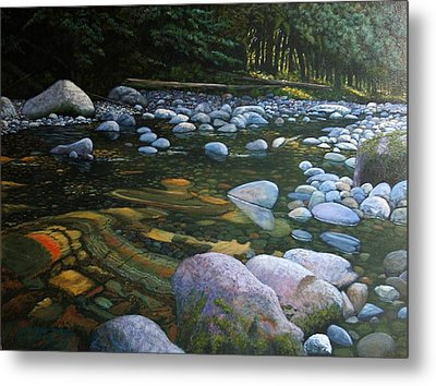 The Heart Of Quartz Creek Metal Print by Ron Smothers