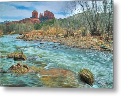 The Heart Of Sedona Metal Print by Donna Kennedy