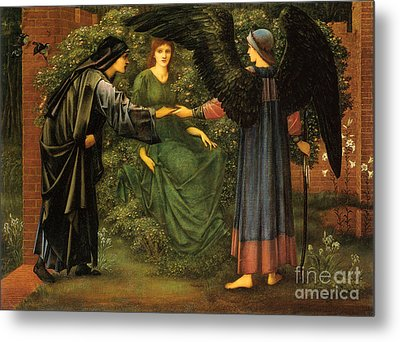 The Heart Of The Rose Metal Print by Celestial Images