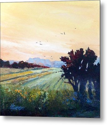 Metal Print featuring the painting The Heartland by Helen Harris
