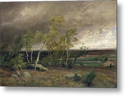 The Heath In A Storm Metal Print