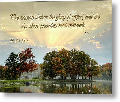 Metal Print featuring the photograph The Heavenly Morning Card by Ann Bridges