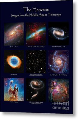 The Heavens - Images From The Hubble Space Telescope Metal Print by David Perry Lawrence