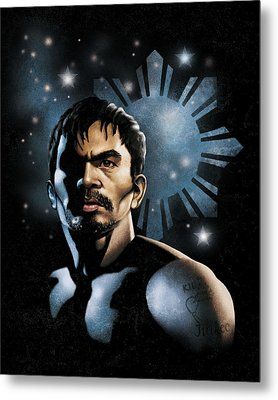 The Heavens Shine On Pacquiao Metal Print by Elvin Dantes