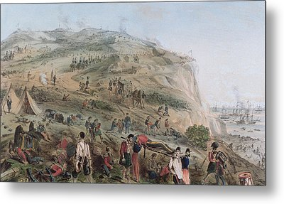 The Heights Of Alma   The Day After The Battle  Metal Print by Joseph-Benwell Austin