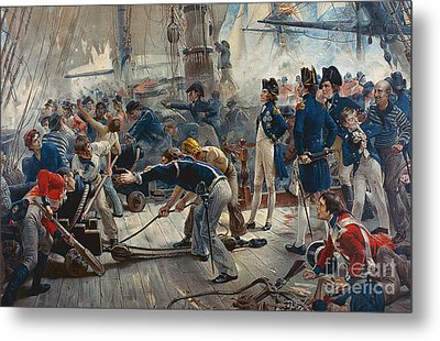 The Hero Of Trafalgar Metal Print by William Heysham Overend