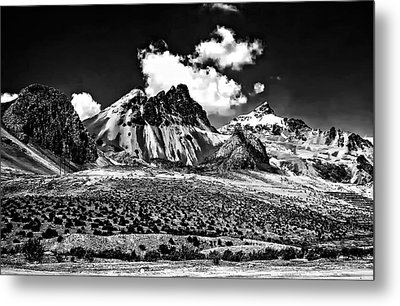 The High Andes Monochrome Metal Print by Steve Harrington