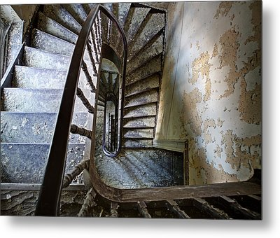 the highest floor looking down - Urbex Metal Print
