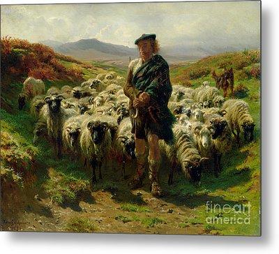 The Highland Shepherd Metal Print