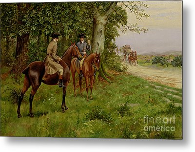 The Highwaymen Metal Print by George Derville Rowlandson