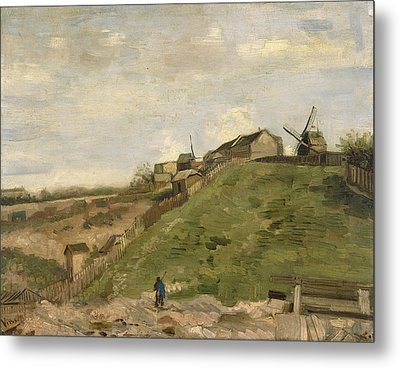 The Hill Of Montmartre With Stone Quarry Metal Print by Vincent van Gogh