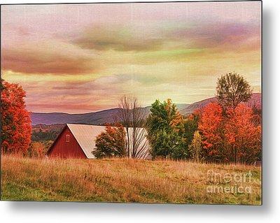 The Hills Of Vermont Metal Print by Deborah Benoit
