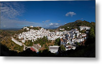 The Hilltop Village Of Casares, Malaga Metal Print by Panoramic Images