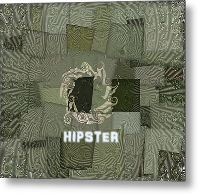 The Hipster Metal Print