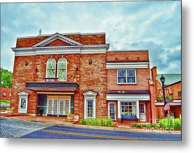 Metal Print featuring the photograph The Historic Wayne Theatre - Waynesboro Virginia - Art Of The Small Town by Kerri Farley