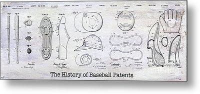 The History Of Baseball Patents Metal Print