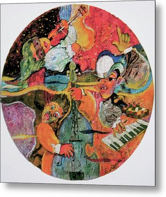 The Holland Jazz Trio Metal Print by Lee Ransaw