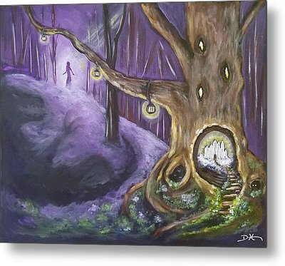 The Hollow Tree Metal Print