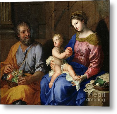 The Holy Family Metal Print by Jacques Stella