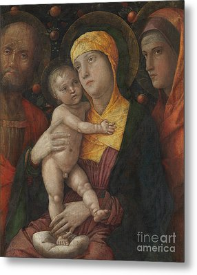 The Holy Family With Saint Mary Magdalene Metal Print