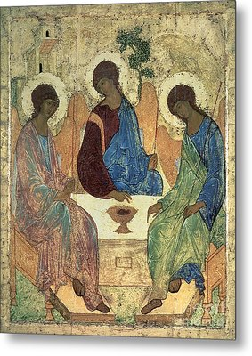 The Holy Trinity Metal Print by Andrei Rublev