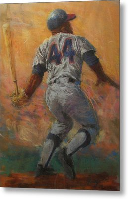 The Homerun King Metal Print by Tom Forgione
