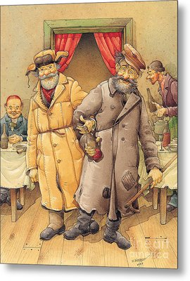 The Honest Thief 01 Illustration For Book By Dostoevsky Metal Print by Kestutis Kasparavicius