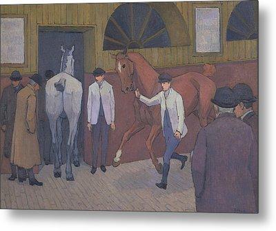 The Horse Mart Metal Print by Robert Bevan