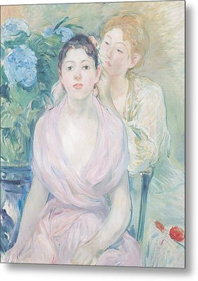 The Hortensia Metal Print by Berthe Morisot