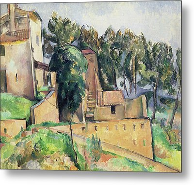 The House At Bellevue Metal Print by Paul Cezanne