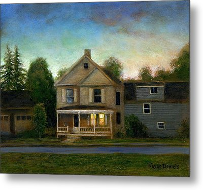 Metal Print featuring the painting The House Next Door by Wayne Daniels