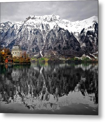 Metal Print featuring the photograph The House On The Lake by Philippe Sainte-Laudy
