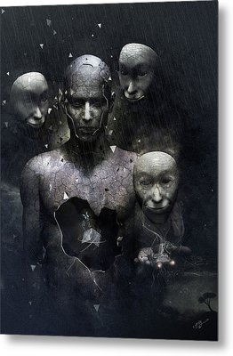 The Human In Me Metal Print