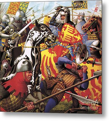 The Hundred Years War  The Struggle For A Crown Metal Print by Pat Nicolle