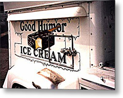 The Ice Cream Truck Is Here Metal Print by Merton Allen