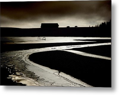 The Ice Farm Metal Print