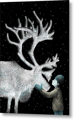 The Ice Garden Metal Print