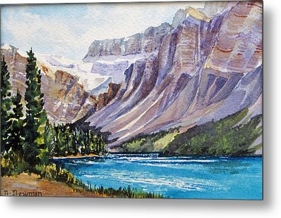 Along-the-icefield-parkway Metal Print by Nancy Newman