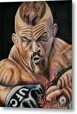 The Iceman Knocks Out A Guys Eye. Metal Print