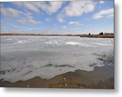 The Icy Lake Metal Print