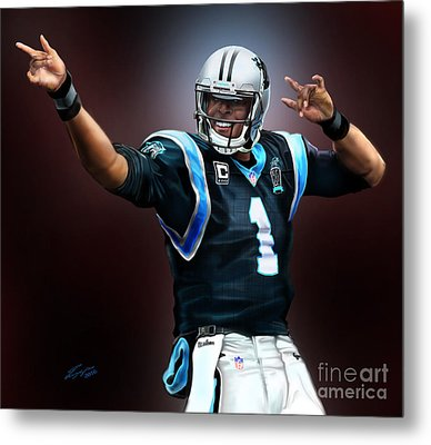 The Inevitable Cam Newton1 Metal Print by Reggie Duffie