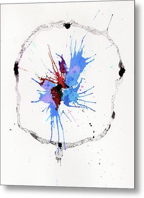 The Inexplicable Ignition Of Time Expanding Into Free Space Phase Two Number 05 Metal Print by Mark M  Mellon