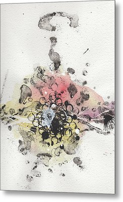 The Inexplicable Ignition Of Time Expanding Into Free Space Phase Two Number 10 Metal Print by Mark M  Mellon