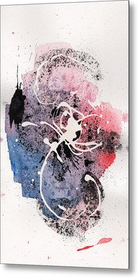 The Inexplicable Ignition Of Time Expanding Into Free Space Phase Two Number 12 Metal Print by Mark M  Mellon