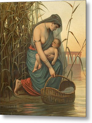 The Infant Moses And His Mother Metal Print by Philip Richard Morris