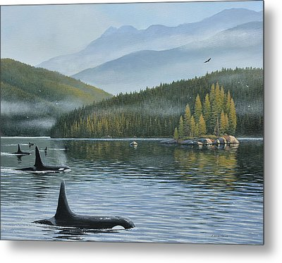 The Inside Passage Metal Print