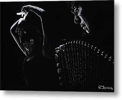 The Intensity Of Flamenco Metal Print by Richard Young